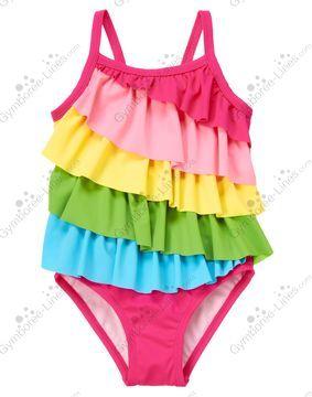 NWT Gymboree California Dreamers Watermelon Baby Girl Pink Ruffle Swimsuit
