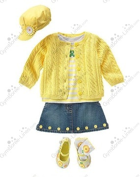 NWT Gymboree Daisy Days Green Pique Embroidered Short Sleeved Dress 3T 4T 5T