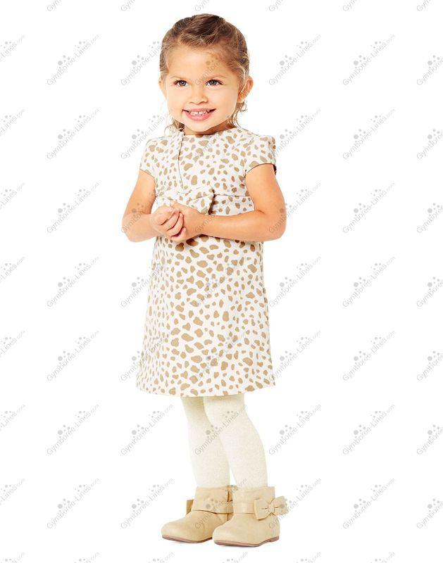 NWT Gymboree RIGHT MEOW Girls Velveteen Animal Print Dress