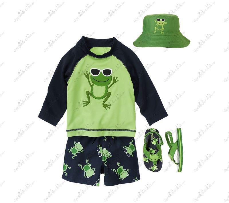 533d952ca12d13 Gymboree Playful Frog Outfit (Swimwear Swim Shop) - Gymboree Lines