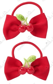 GYMBOREE CHERRY CUTE RED BOW w// WHITE DOTS HEADBAND NWT