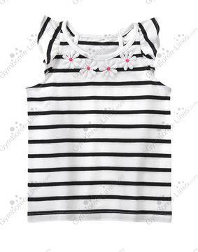 Gymboree Daisy Park 7 8 Black Striped Daisy Top Summer 15