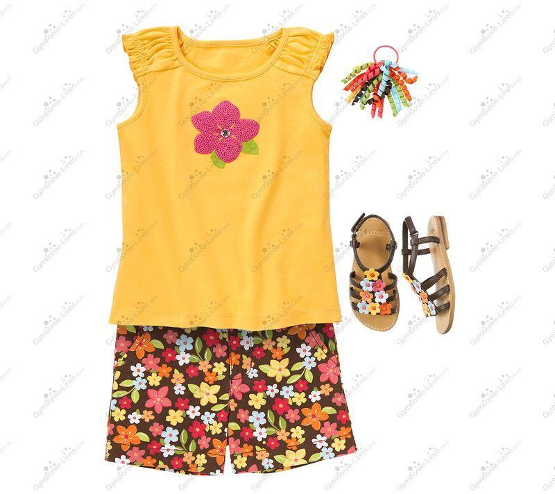 Gymboree ALOHA SUNSHINE Pink Yellow Blue Green Multi Color Flower Shorts NWT