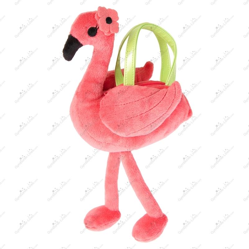 NWT Gymboree Sunny Adventures Flamingo Plush Purse Bag Girls