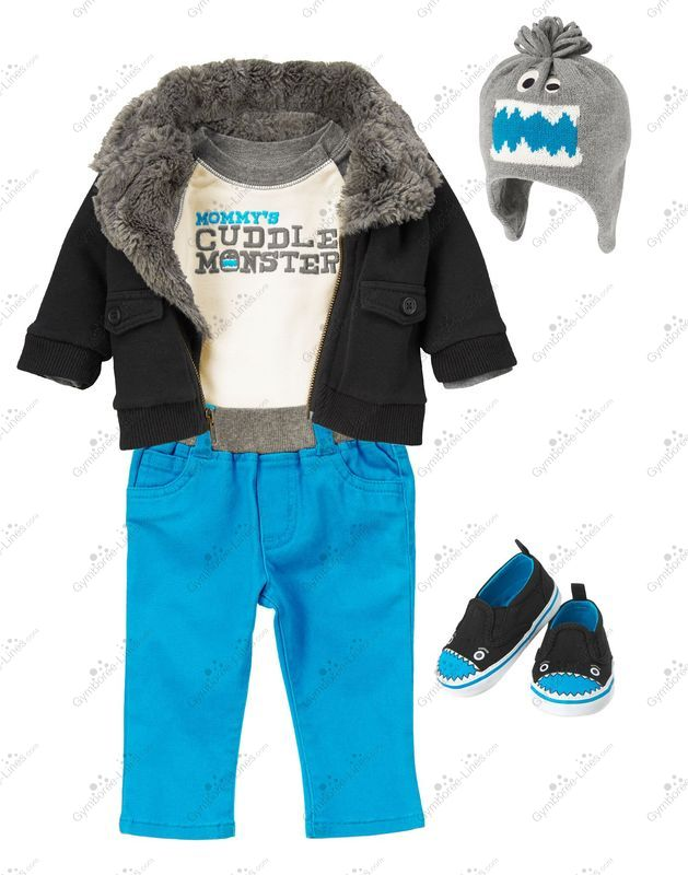 Crazy 8 Mommy's Cuddle Monster Outfit (Boy